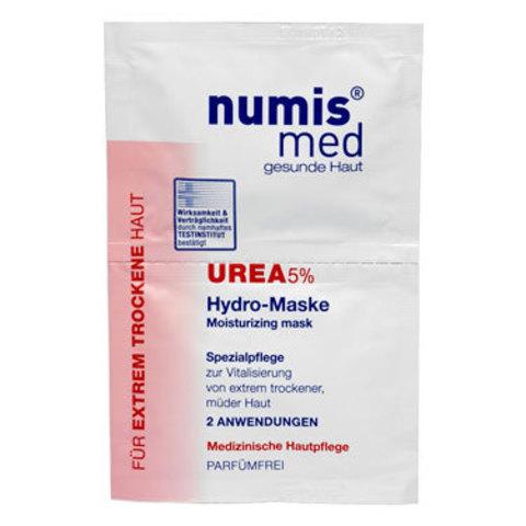 Увлажняющая маска для лица с 5 % мочевиной Numis Med, двойное саше по 8 мл