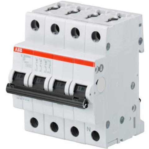 Автоматический выключатель 3-полюсный с нулём 63 А, тип D, 6 кА S203 D63NA. ABB. 2CDS253103R0631