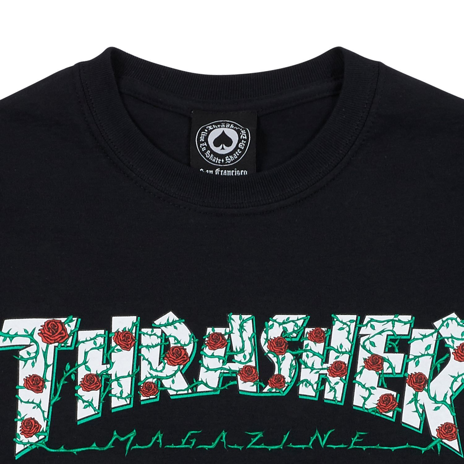 Футболка THRASHER Roses Black