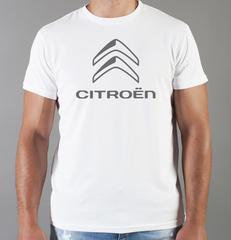 Футболка с принтом Citroen (Ситроен) белая 002