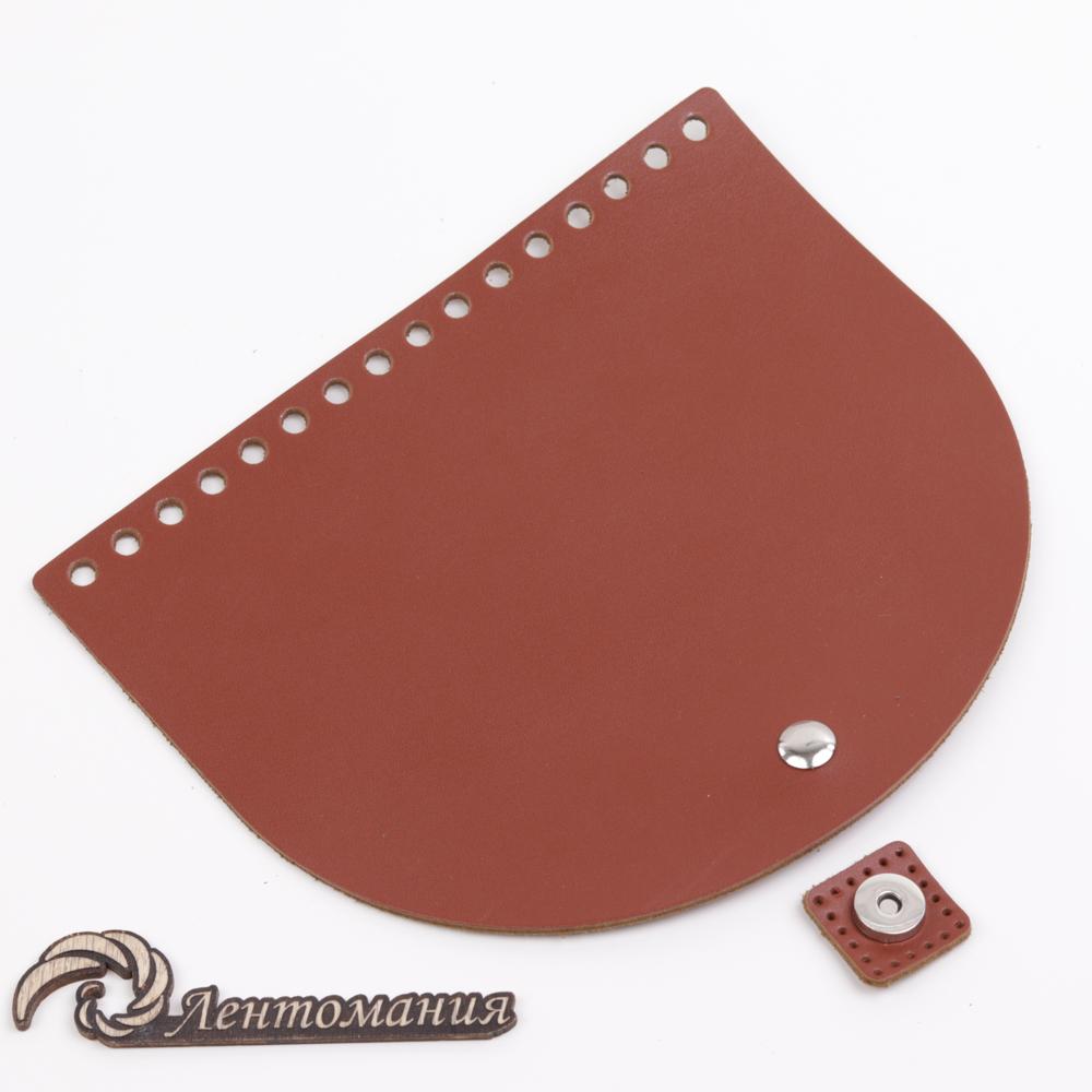 """Вся фурнитура Клапан для сумочки кожаный с магнитной застежкой """"Коньяк"""" 19*16 см 20210328-IMG_0225.jpg"""