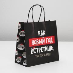 Пакет подарочный «Так тебе и надо», 22 × 22 × 11 см