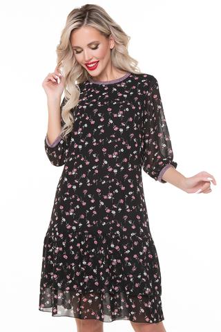 <p>Восхитительное платье из воздушного шифона длины миди смотрится сдержанно, при этом стройнит и визуально вытягивает фигуру. Прекрасно подойдет для ужина в ресторане или вечеринки. Платье на трикотажном подкладе. (Длина: 98-100см)</p>