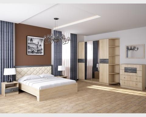 Спальня модульная МАДЛЕН-2 дуб шале серебро
