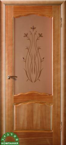 Дверь Диана (стекло тонированное) (орех, остекленная шпонированная), фабрика Зодчий