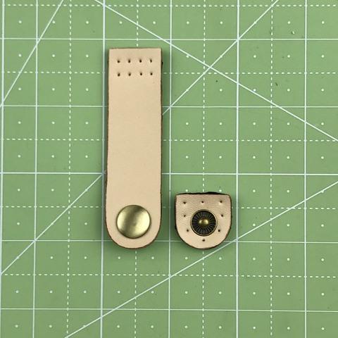 Ремешок для кошелька на кнопке 7,5 см. (Светло-бежевый)