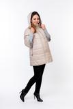 Куртка для беременных 09107 бежевый/капучино