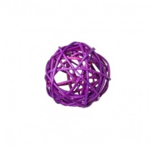 Плетеные шары из ротанга (набор:12 шт., d5см, цвет: фиолетовый)