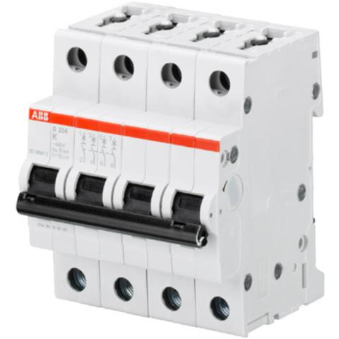 Автоматический выключатель 4-полюсный 13 А, тип K, 6 кА S204 K13. ABB. 2CDS254001R0447