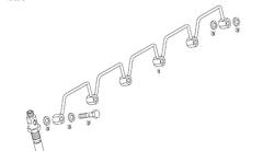 Трубка форсунок МАН ТГА D2866 51123055163  Топливопровод форсунок МАН ТГА/MAN TGA  Сборка:   №     OEM        Наименование детали  1 51123055163 Подпиточная проводка  2 51981500177 Полый винт  3 06566310125 Уплотнительное кольцо; с эластомерной кромкой уплот.