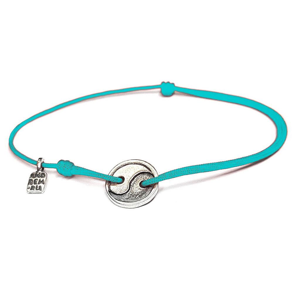 Yin and Yang bracelet, sterling silver