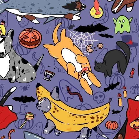 Хэллоуин у корги