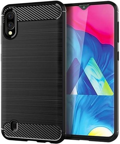 Чехол Carbon для Samsung Galaxy A10/M10 серия Карбон | черный
