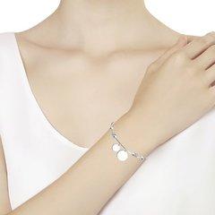 94050698 - Браслет из серебра с подвесками монетками