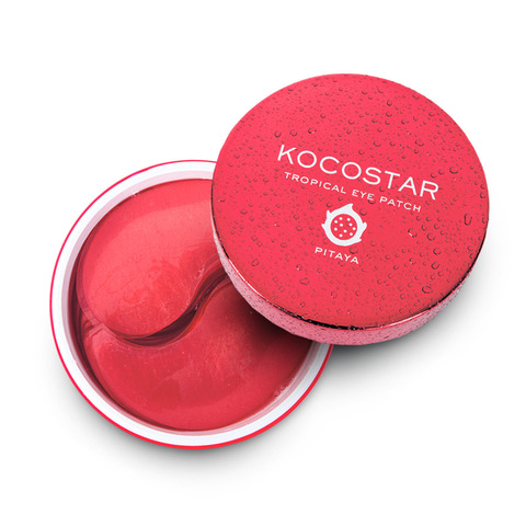 Kocostar Гидрогелевые патчи для глаз Питахайя 60 шт 90г/ Tropicla Eye Patch (Pitaya) Jar