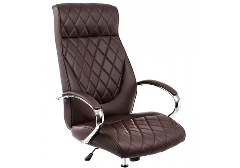 Офисное кресло для персонала и руководителя Компьютерное Monte темно-коричневое 67*67*129 Хромированный металл /Коричневый