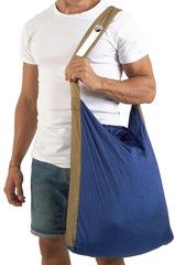 Сумка складная Ticket to the Moon Eco Bag Large (30л.) Royal Blue/Brown