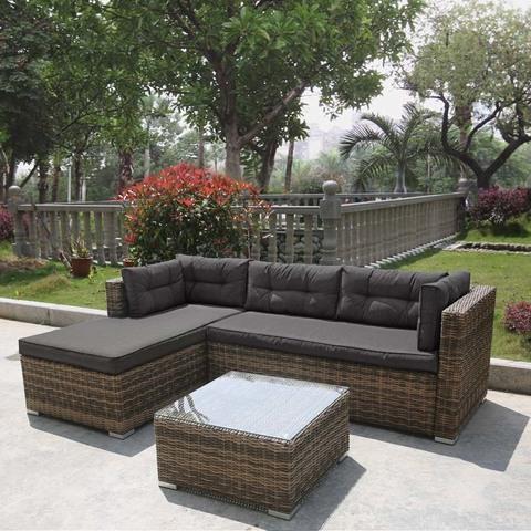 Комплект плетеной мебели AFM-302 Brown/Grey