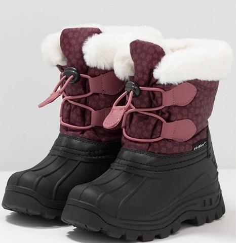 Ботинки Kickers зимние Sealsnow Burgundy pink flowery