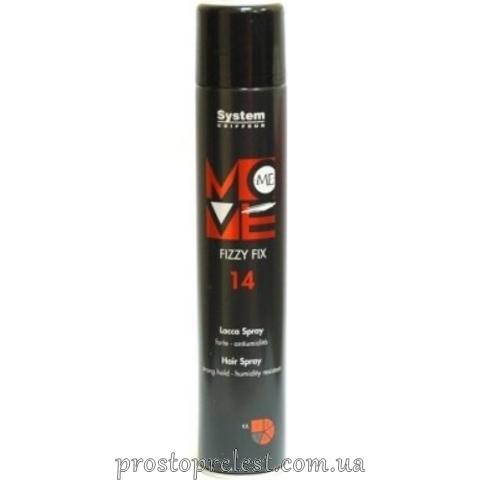 Dikson Move Me 14 Fizzy Fix - Лак-спрей для волос сильной фиксации