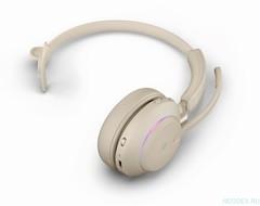 Jabra Evolve2 65 Mono UC USB-C беспроводная гарнитура бежевая ( 26599-889-898 )