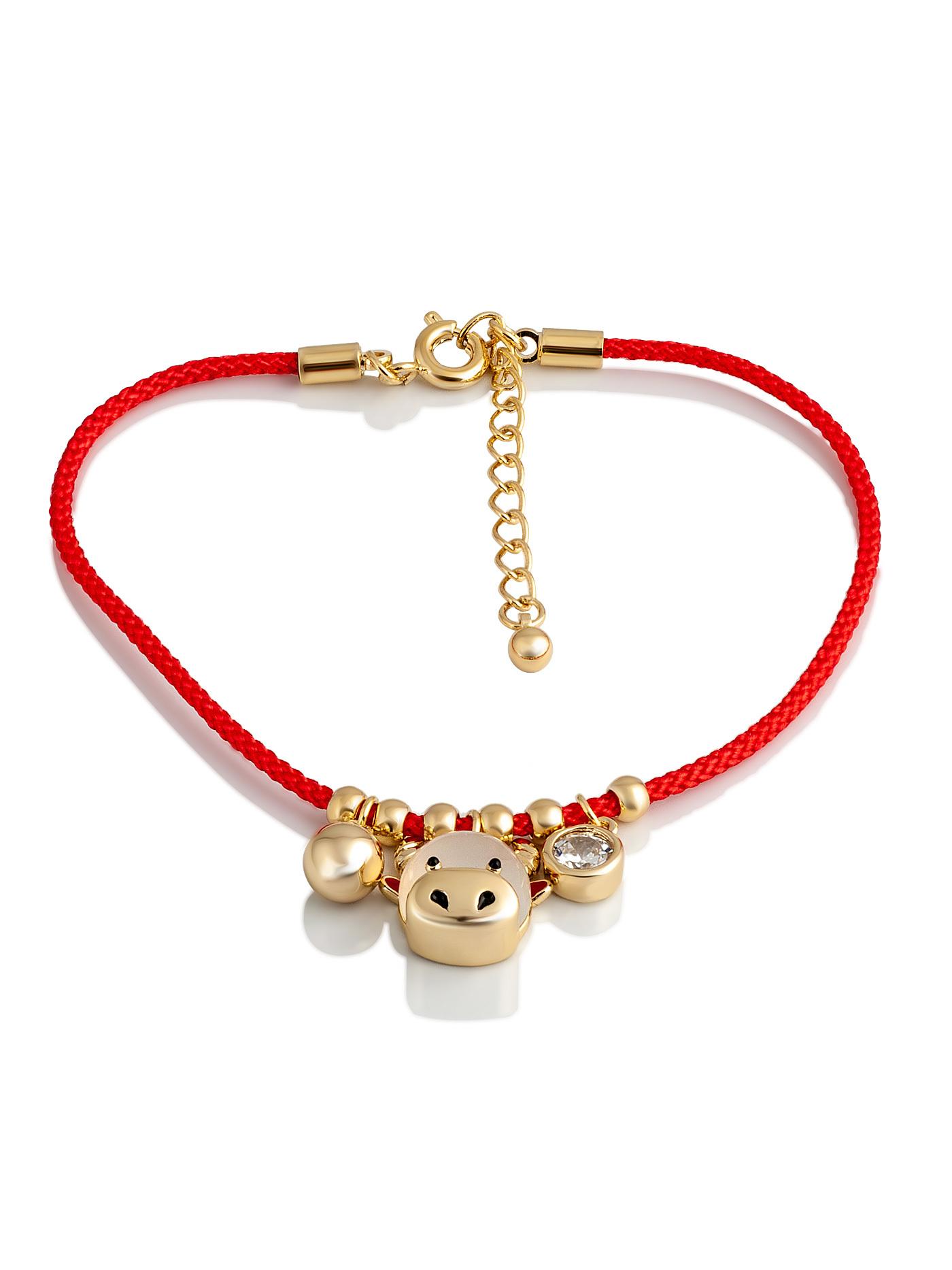 Красный браслет-амулет, Бык животное символ года 2021