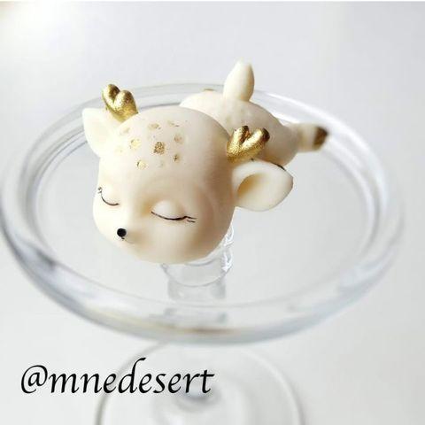 Силиконовая форма молд 3D Спящий олененок №1