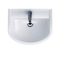 Шкафчик Prime под раковину Arteco 55, белый / Раковина Cersanit Arteco 55