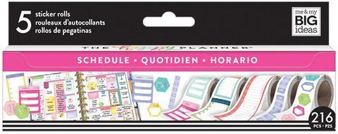Набор стикеров в рулоне Happy Planner Sticker Roll -Scheduling - 216 шт.