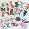 Разрезные картинки с животными. Развивающее пособие на липучках Frenchoponcho (Френчопончо)