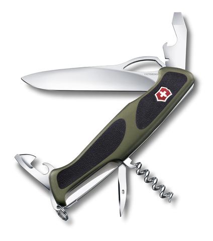 Нож Victorinox RangerGrip 61, 130 мм, 11 функций, зеленый123