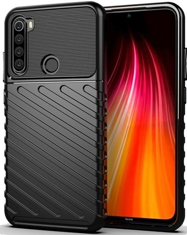 Carbon / Чехол для Xiaomi Redmi Note 8 серия Оникс | черный