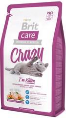 Корм для котят, Brit Care Cat Crazzy Kitten, беременных/кормящих кошек