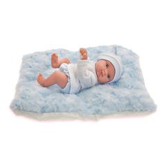 Munecas Antonio Juan Кукла Пепито мальчик на голуб. одеялке, 21см (3903B)