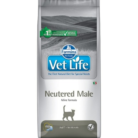 Farmina Vet Life cat Neutered Male, для кастрированных котов 10 кг