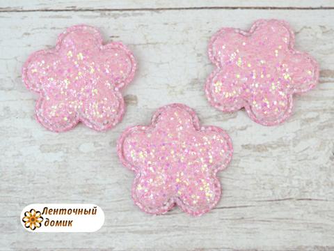 Мягкий декор цветочки конфетные розовые