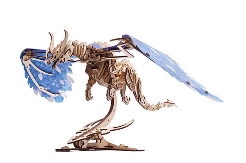Дракон Ураган от Ugears - Деревянный конструктор, сборная модель, 3D пазл