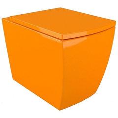 Подвесной унитаз Arcus G 050 оранжевый, дюропластовое сиденье с микролифтом