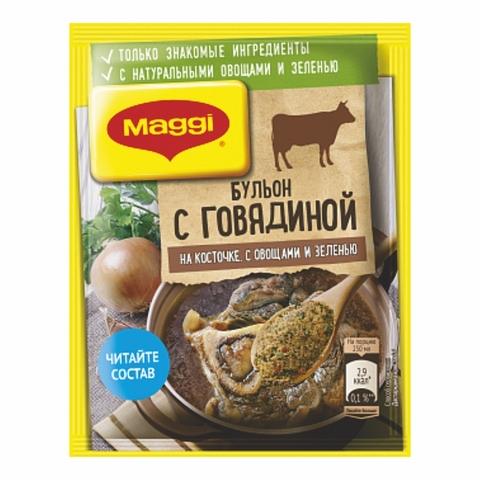 Бульон MAGGI Говяжий на косточке 90 гр РОССИЯ