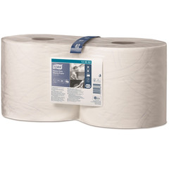 Протирочная бумага Tork 130062 W1/W2 белая (170 метров в рулоне)