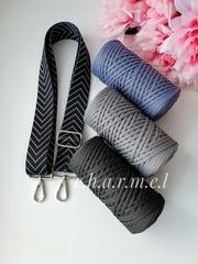 Чёрный ёлочка Ремень для сумки