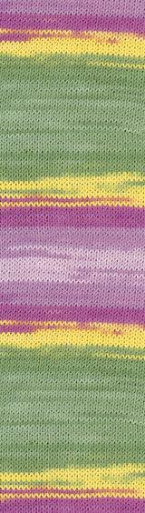 Пряжа Alize Bella Batik меланж желт-зел-роз 4591
