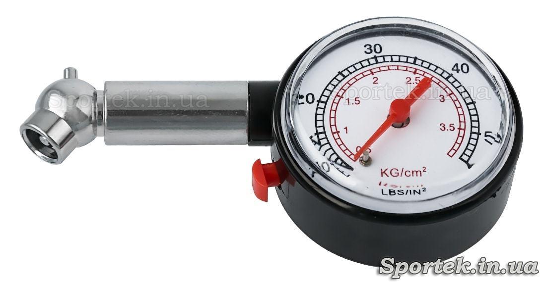 Маленький ручной манометр до 4 Bar для проверки давления