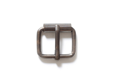 Пряжка с роликом 20 мм - состаренная латунь