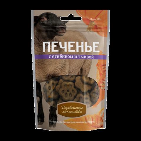 Деревенские лакомства Лакомство для собак Печенье с ягненком и тыквой