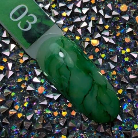 Акварельные капли для росписи №3 (зеленые) BlooMax, 5 мл