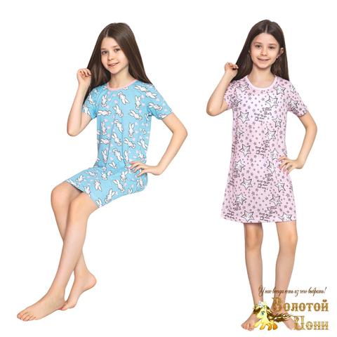 Сорочка хлопок девочке (6-14) 210318-М1135.2