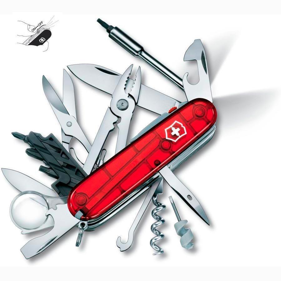 Складной нож Victorinox CyberTool Lite (1.7925.T) с фонариком, 91 мм., 36 функций - Wenger-Victorinox.Ru