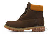 Ботинки Женские Timberland 17061 Waterproof Chocolate С Мехом