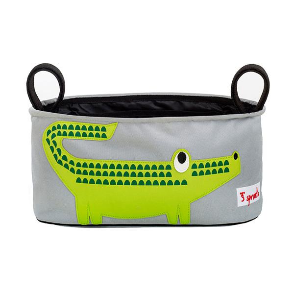 Сумка-органайзер для коляски 3 Sprouts Крокодил (зелёный)